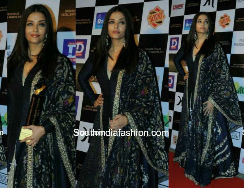 Aishwarya Rai in Anju Modi at Dadasaheb Phalke Awards 2017