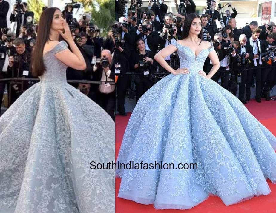 Aishwarya Rai in Michale Cinco at Cannes Red Carpet 2017 1