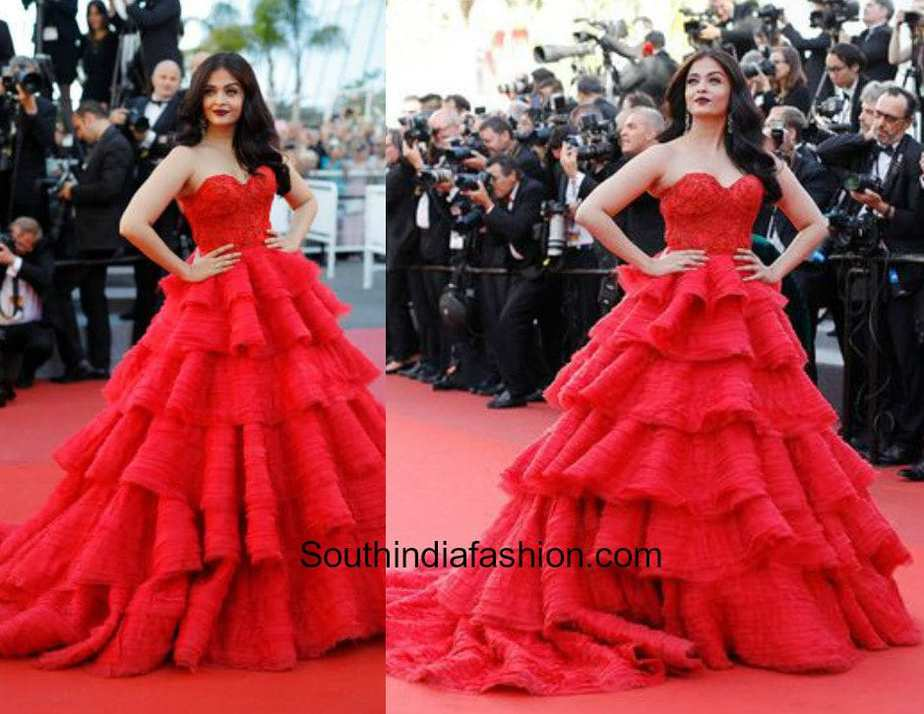 Aishwarya Rai in Ralph and Russo at the Cannes Red Carpet 2017 1