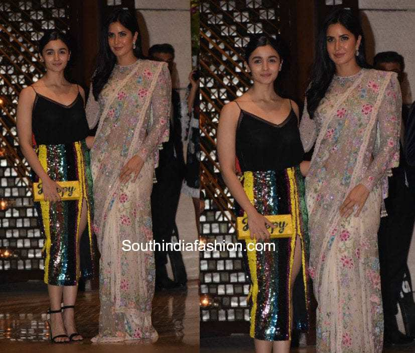 Alia Bhatt and Katrina Kaif were snapped together at Ambani's party for visiting the Mayor of London, Sadiq Khan.