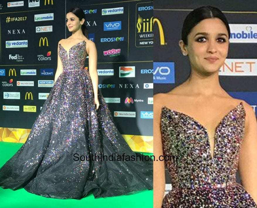 Alia Bhatt in Zuhair Murad Couture at Iifa Awards 2017