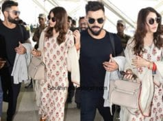 Anushka Sharma and Virat Kohli at the airport