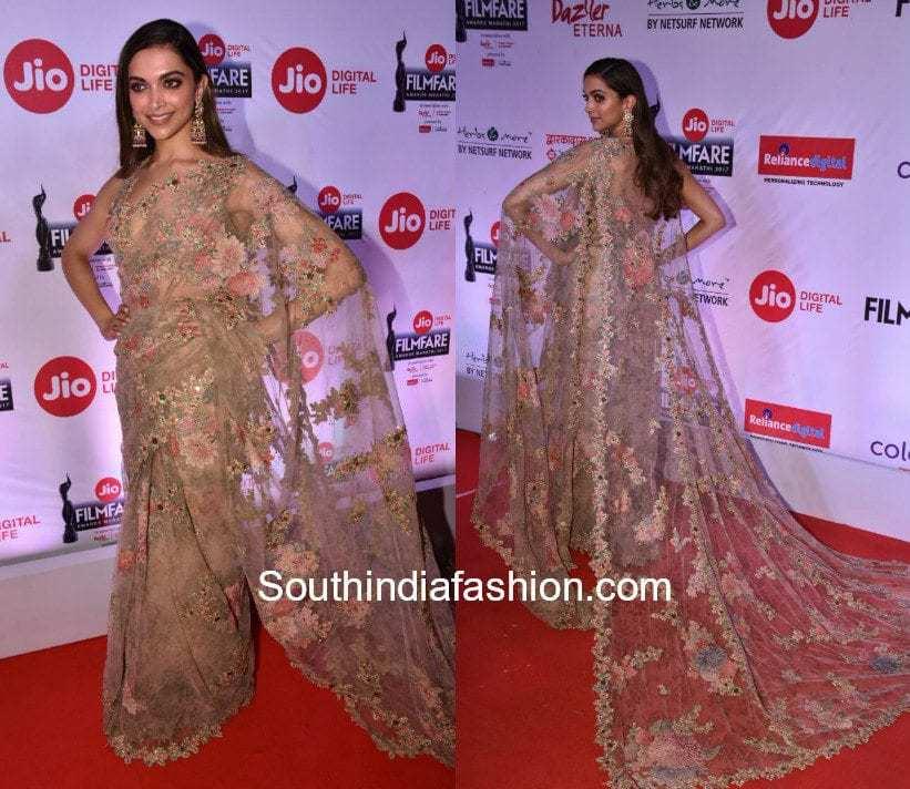 Deepika Padukone in Sabyasachi at Marathi Filmfare Awards 2017