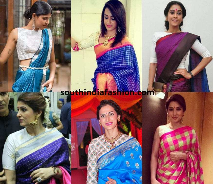 How To Pair A White Blouse WIth Pattu Sarees