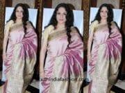 Gracy Singh in a silk saree at Bhramakumari sister's spritual talk