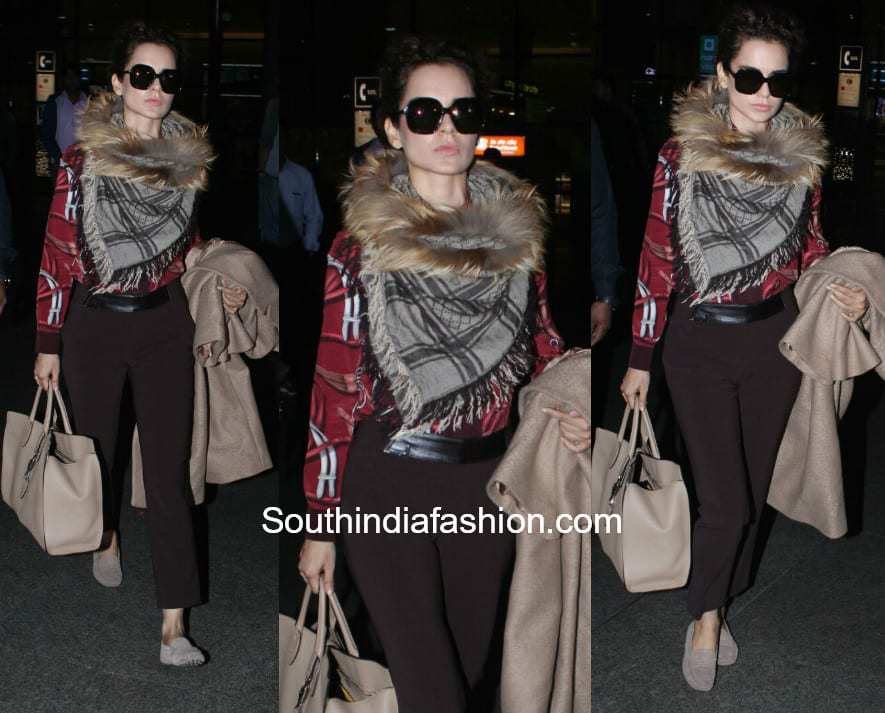 Kangana Ranaut in Gucci at the airport