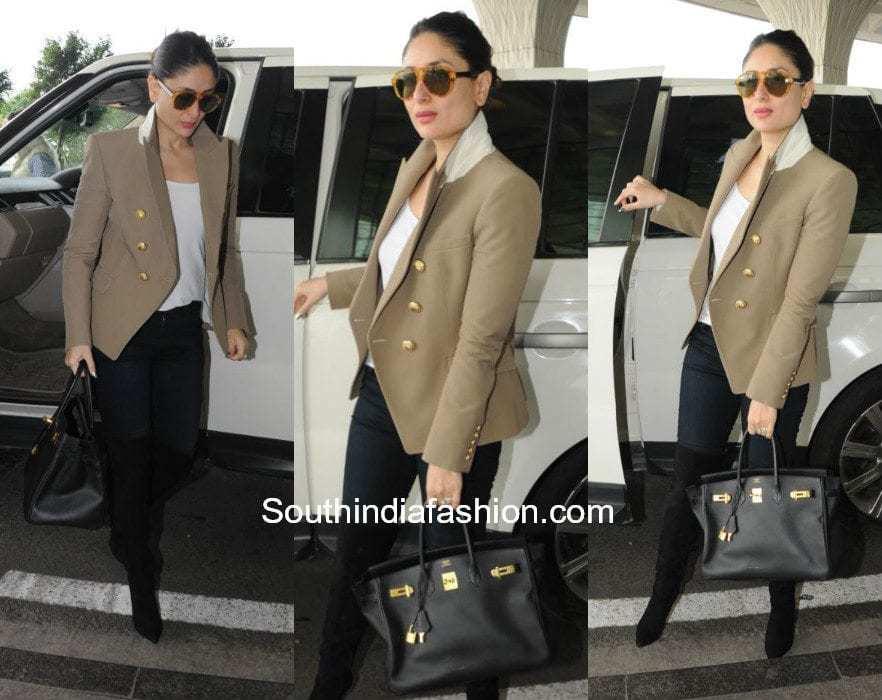 Kareena Kapoor in Balmain at the airport