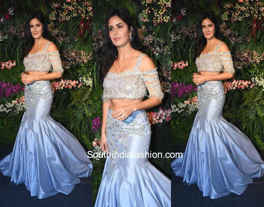 katrina kaif at virushka wedding reception in mumbai 2018