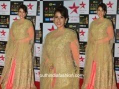 Manisha Koirala in Amy Billimoria at Star Screen Awards 2017