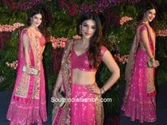 Mehreen Pirzaada in Devnaagri at Virushka wedding reception in Mumbai
