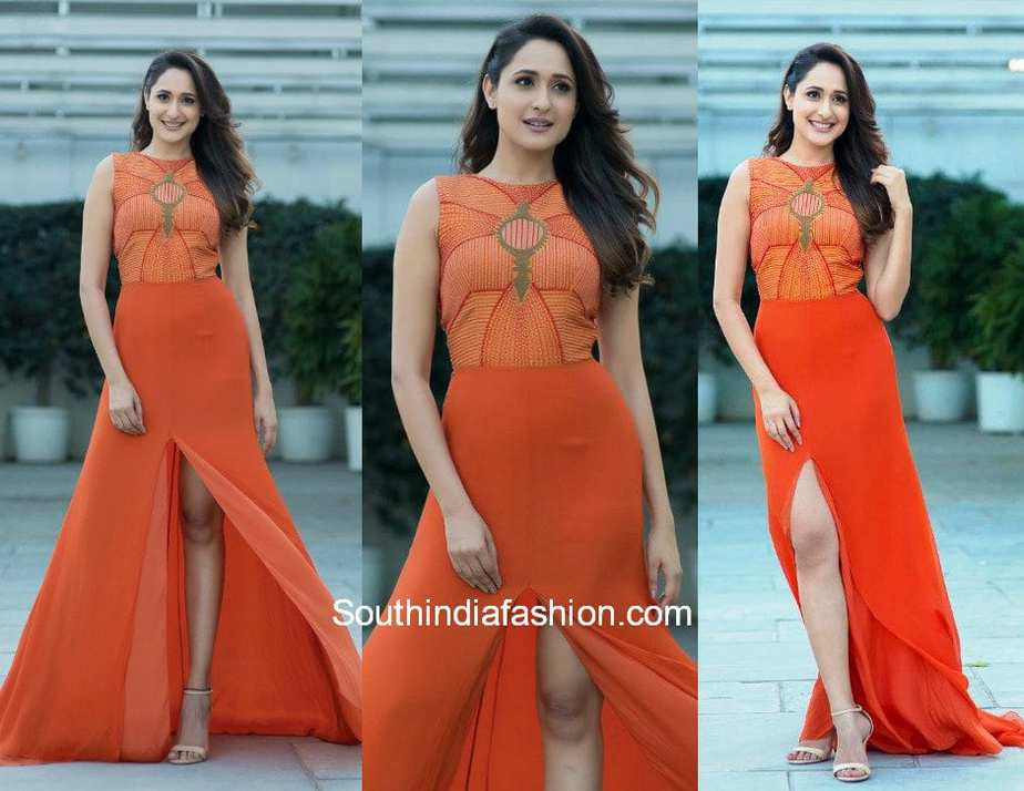 Pragya Jaiswal in Nachiket Barve for an event in Hyderabad