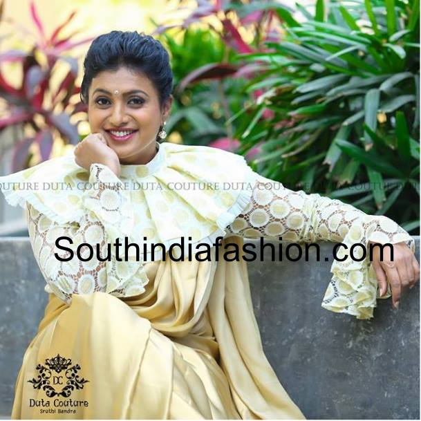 Roja in full sleeved cape blouse