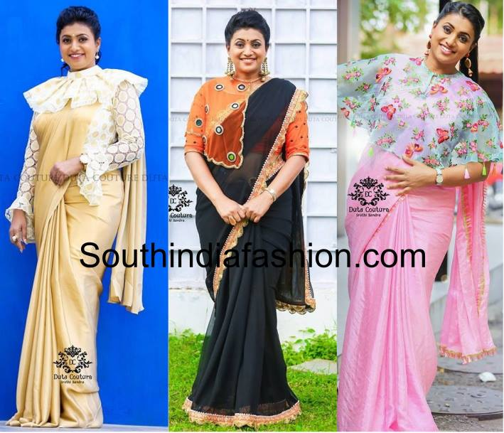 Roja in stylish cape blouses