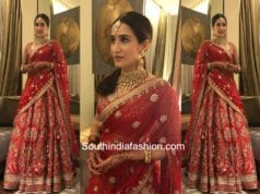 Sagarika Ghatge in Anita Dongre lehenga for her wedding