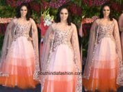 Saina Nehwal in House Of Neeta Lulla at Virushka Wedding Reception
