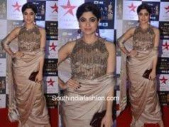 Shamita Shetty in Manish Malhotra at Star Screen Awards 2017