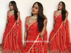 Sonakshi Sinha in Anita Dongre at an event