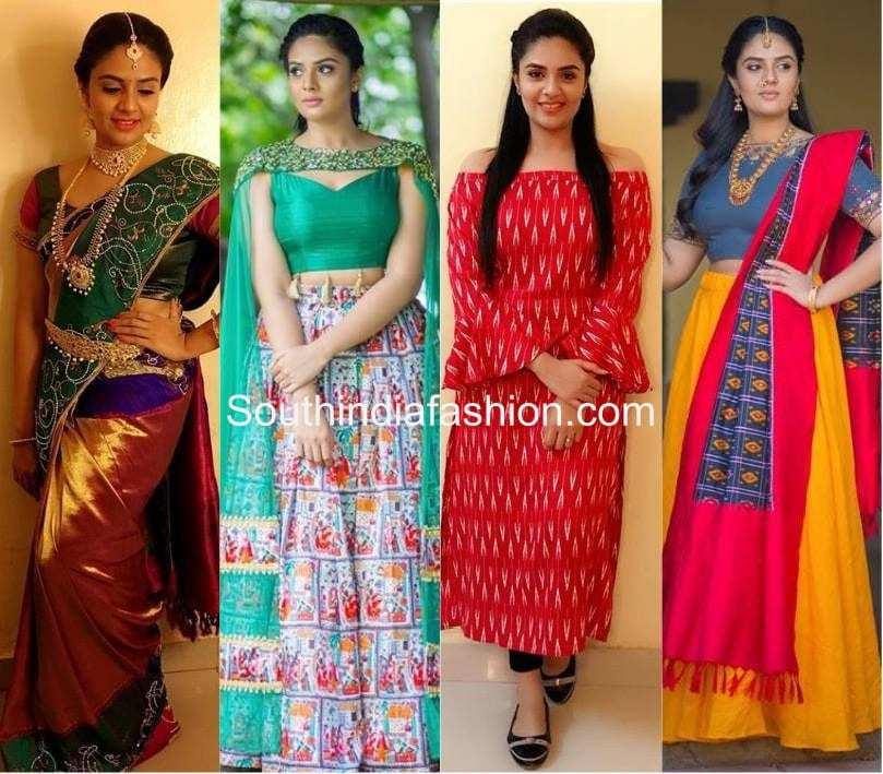 A Look At Sreemukhi's Style Sense – South India Fashion