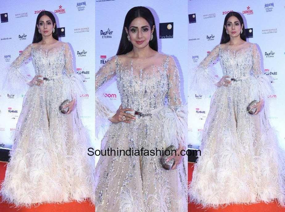 Sridevi Kapoor in Ziad Nakad at Filmfare Glamour and Style Awards 2017 1