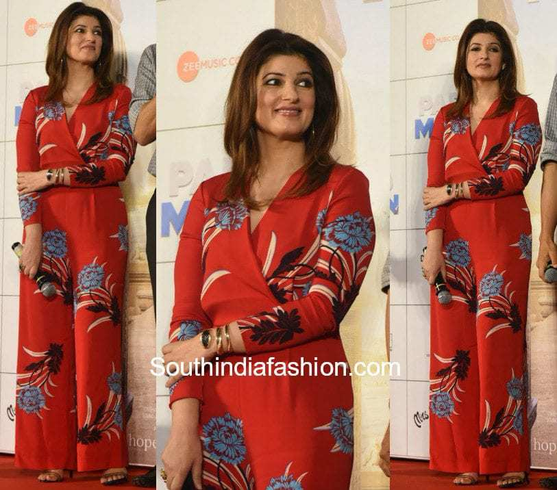 Twinkle Khanna in DVF Jumpsuit at the trailer launch of Padman