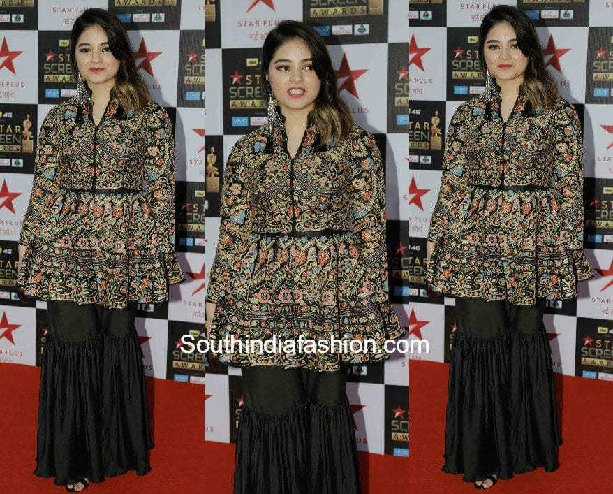 Zaira Wasim in Sonali Gupta at Star Screen Awards 2017