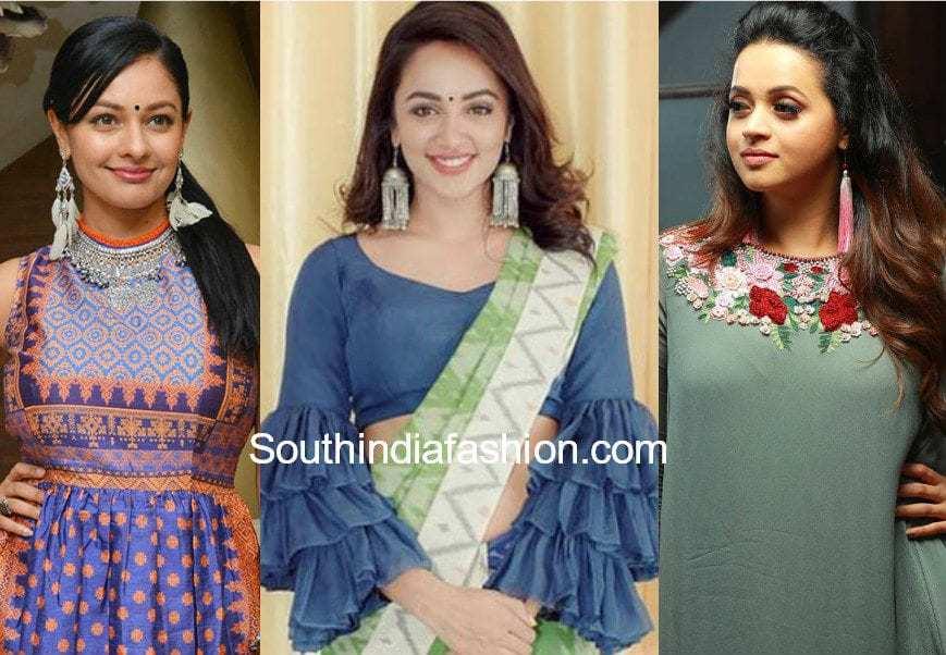 indian actress in tassel earrings