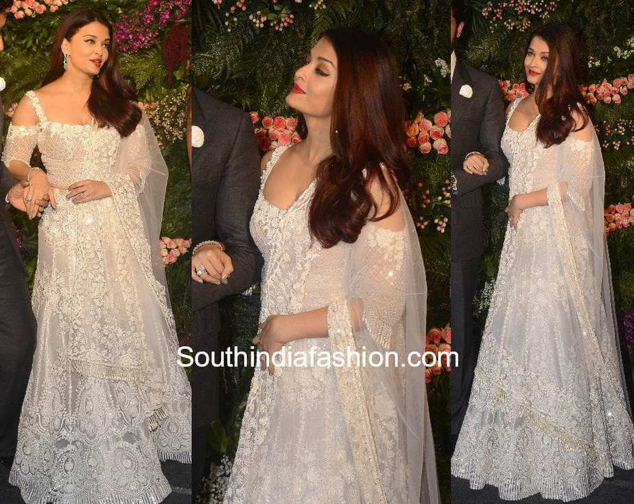 Aishwarya Rai Bachchan In Manish Malhotra South India Fashion
