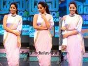 anchor anasuya dhoti saree drama juniors