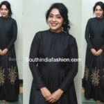 Ramya Subramanian in a black gown