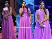 suma kanakala purple gown agnyaathavaasi audio launch