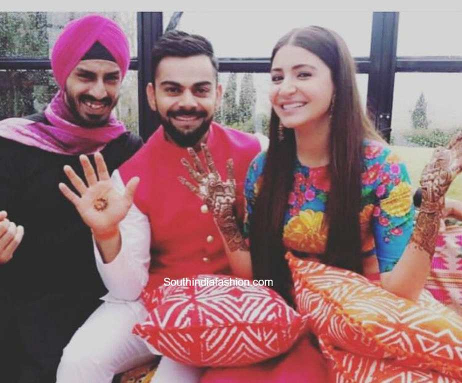 Mehendi Ceremony of Virat Kohli and Anushka Sharma
