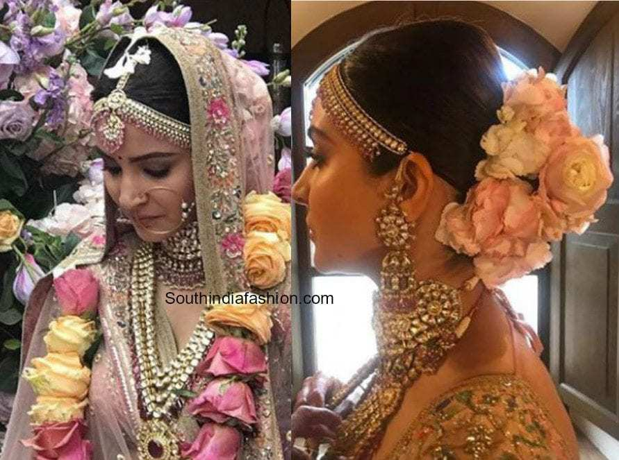 anushka sharma wedding bridal look