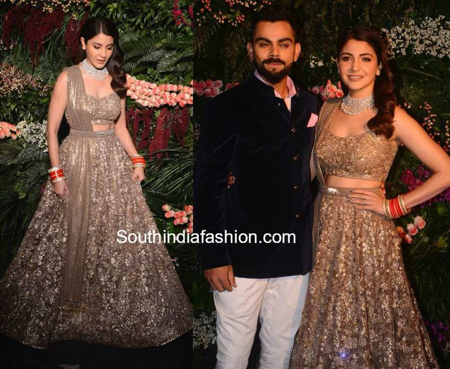 81d68b7d02e4 Anushka Sharma & Virat Kohli's Wedding Reception in Mumbai – South ...