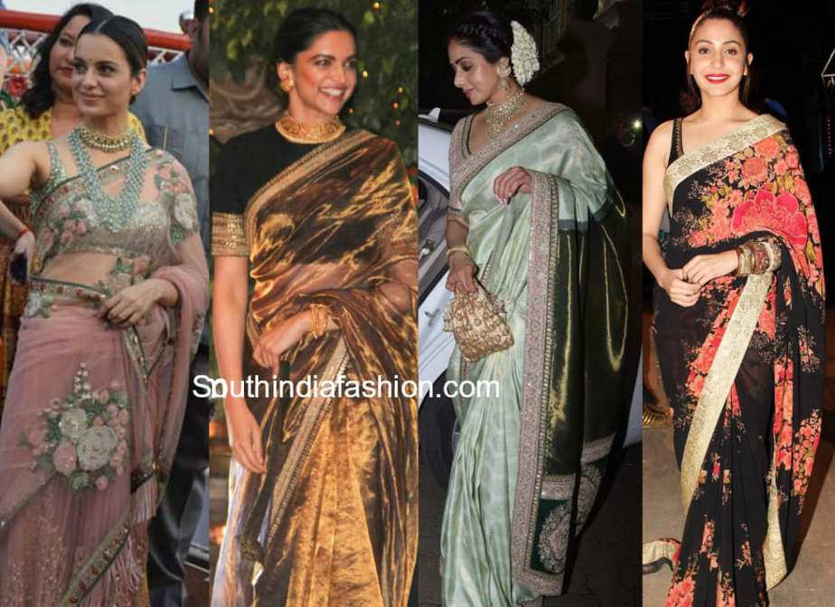 celebrities in sabyasachi sarees 2017