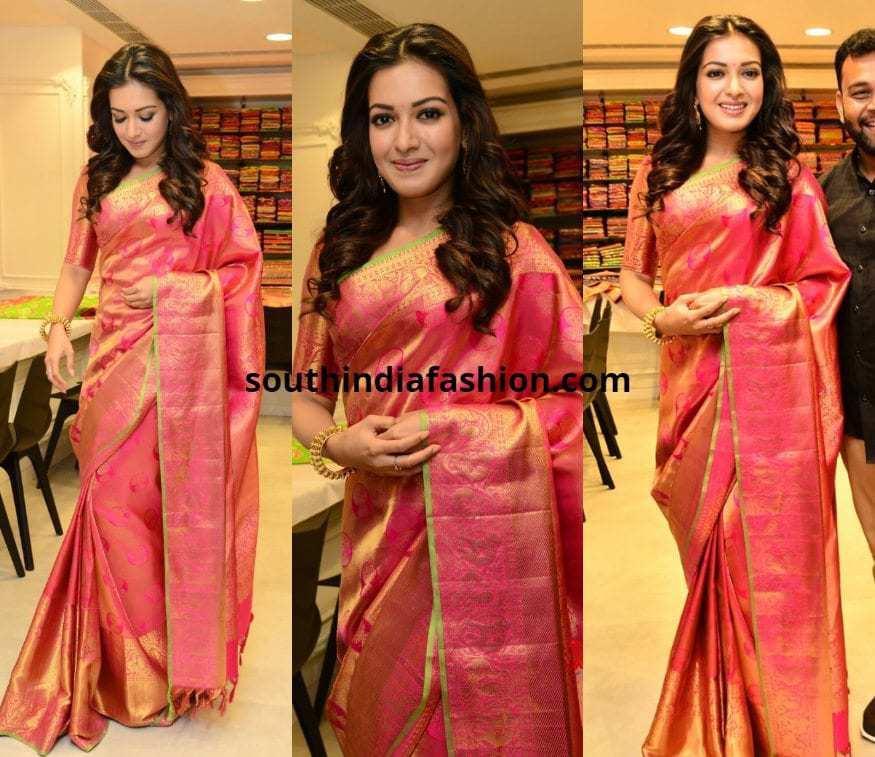 Catherine in Silk saree