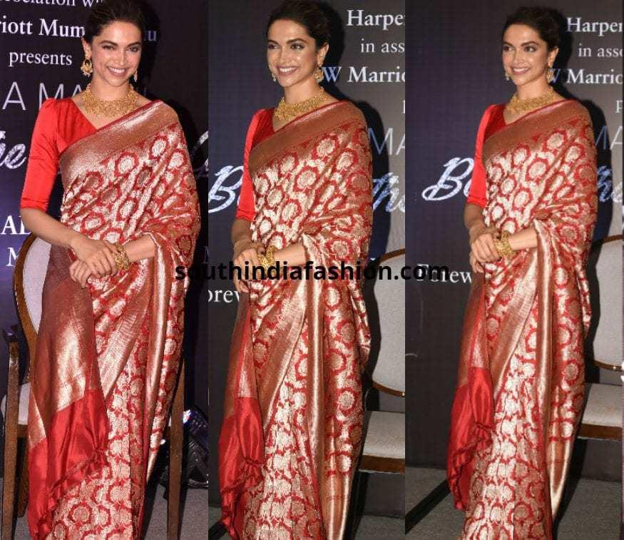DeepikaPadukone In Banarasi Silk