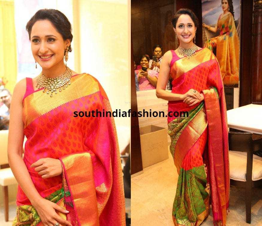 Pragya Jaiswal in Silk saree