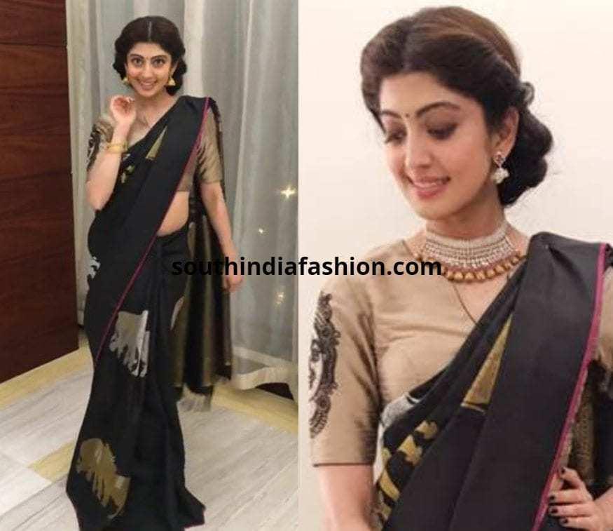 Pranitha In Silk Saree
