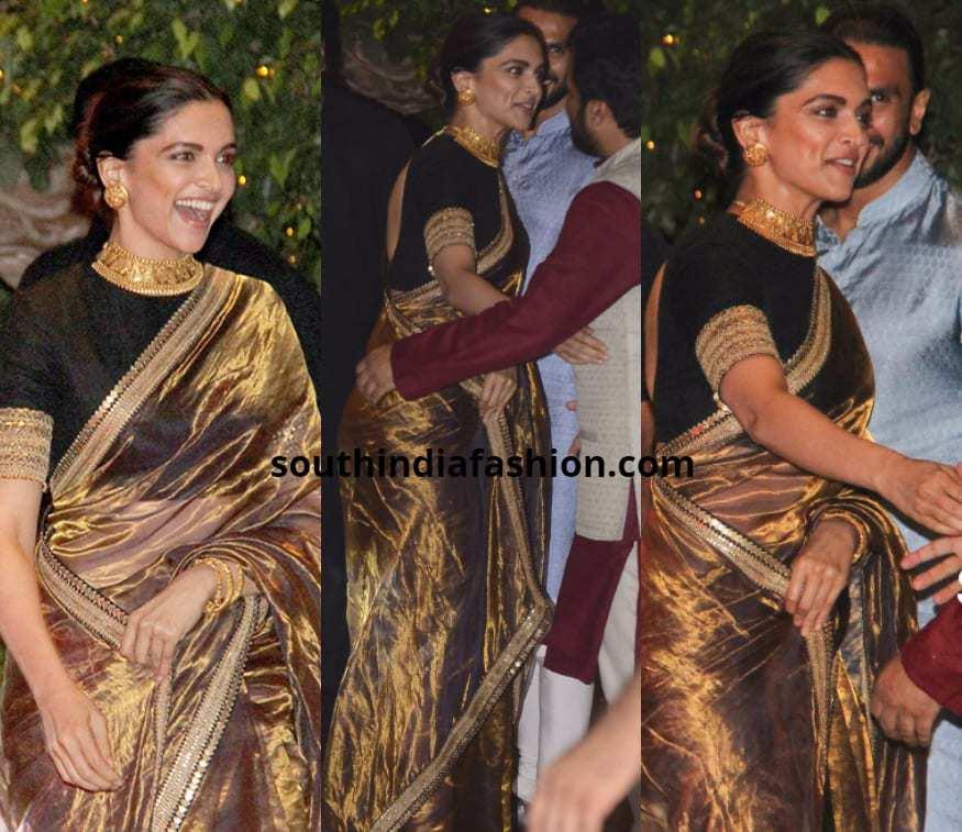 Deepika Padukone in Sabyasachi saree
