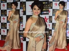 madhoo shah manish malhotra saree star screen awards 2017