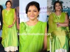 manjula ghattamaneni green salwar