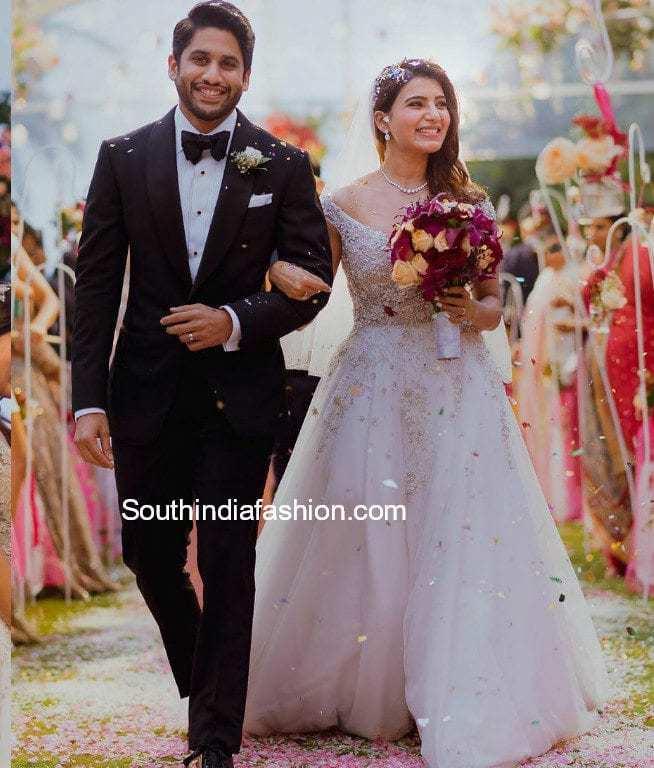 samantha prabhu christian wedding gown