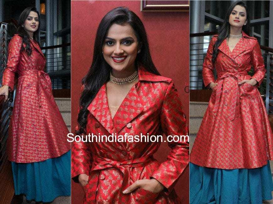 shraddha srinath skirt with long jacket