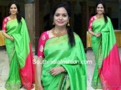 singer sunitha silk saree