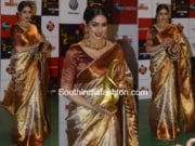 sridevi kapoor sabyasachi kanjeevaram saree at zee cine awards 2018