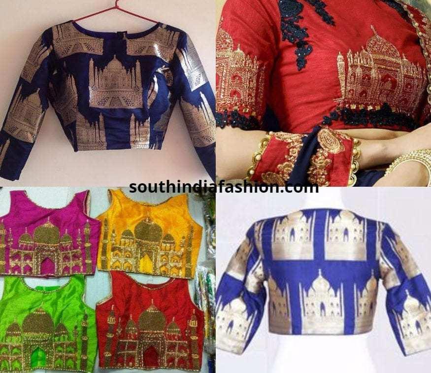 Taj Mahal Blouses embroidered