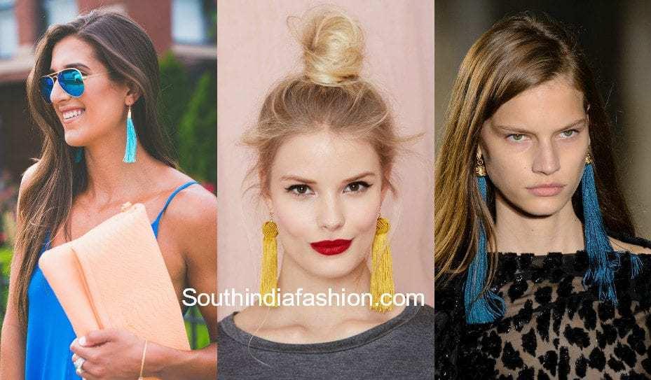 tassel earrings trend