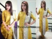 trisha krishnan yellow salwar