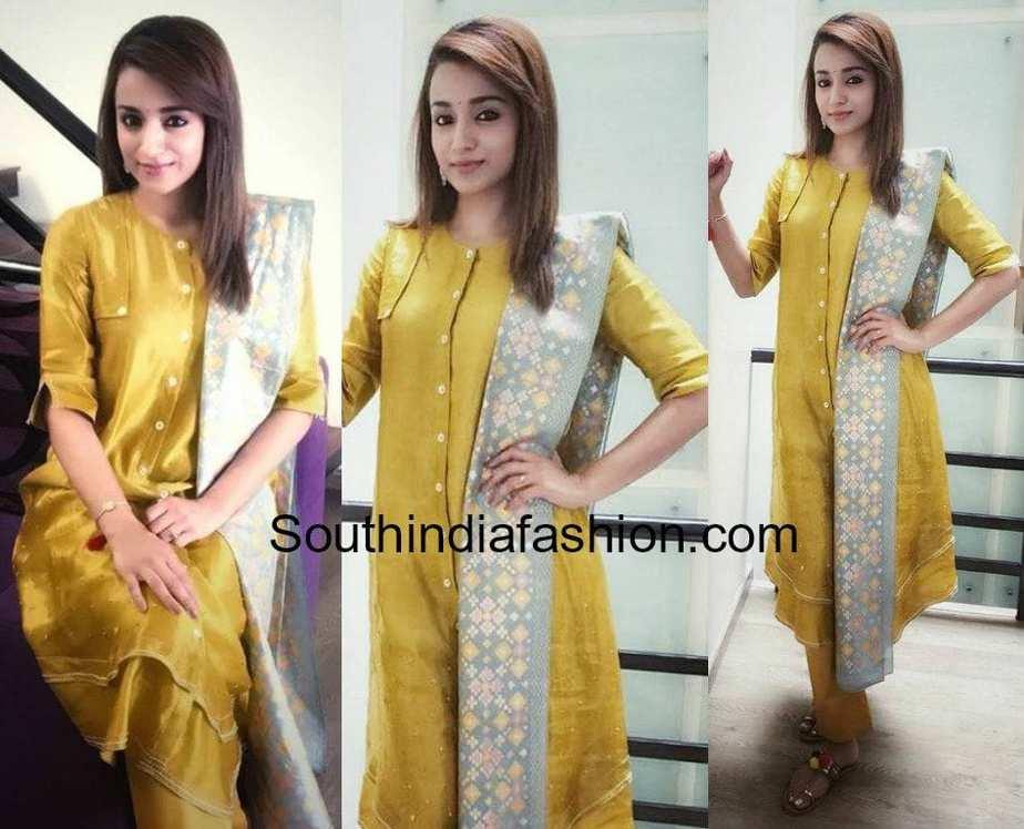 1124b7ab95 Trisha Krishnan in I Am Design – South India Fashion