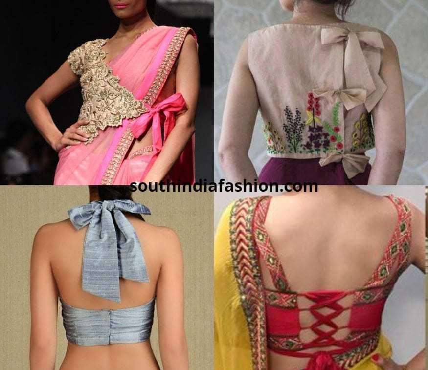trendy knot blouse designs